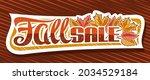 vector banner for fall sale ... | Shutterstock .eps vector #2034529184
