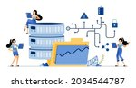 illustration of database access ...   Shutterstock .eps vector #2034544787