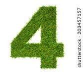 artificial grass background... | Shutterstock . vector #203457157