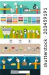 set of flat elements for... | Shutterstock .eps vector #203459191