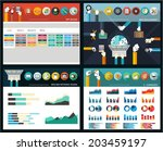 set of flat elements for... | Shutterstock .eps vector #203459197