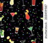 cocktail and confetti party... | Shutterstock .eps vector #203459587