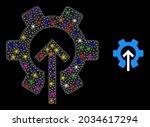 glossy mesh gear integration...   Shutterstock .eps vector #2034617294