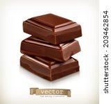 Chocolate Pieces  Vector...