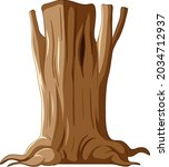isolated tree trunk and roots... | Shutterstock .eps vector #2034712937