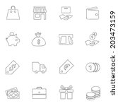 shopping icon line drawing by...