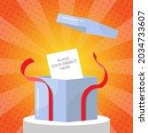 surprise open gift box concept...