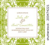 wedding invitation cards with... | Shutterstock . vector #203474221