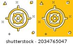 shooting target vector icon in...   Shutterstock .eps vector #2034765047