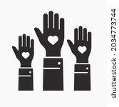 volunteer icon. vector... | Shutterstock .eps vector #2034773744