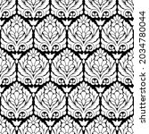 traditional asian damask... | Shutterstock .eps vector #2034780044