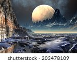 alien planet   3d rendered... | Shutterstock . vector #203478109