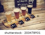 beer tasting  | Shutterstock . vector #203478931