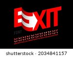 modern font design with some... | Shutterstock .eps vector #2034841157