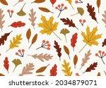 seamless pattern of autumn...   Shutterstock .eps vector #2034879071