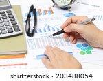closeup image of business woman ... | Shutterstock . vector #203488054