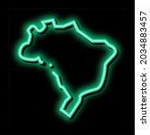 africa continent neon light... | Shutterstock .eps vector #2034883457