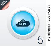live sign icon. on air stream...