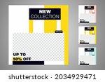 new set of editable minimal... | Shutterstock .eps vector #2034929471