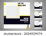 new set of editable minimal... | Shutterstock .eps vector #2034929474