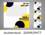 new set of editable minimal... | Shutterstock .eps vector #2034929477