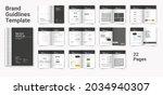 brand guideline template brand... | Shutterstock .eps vector #2034940307