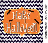 cute halloween invitation or... | Shutterstock .eps vector #203497609