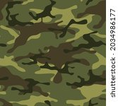 camouflage seamless pattern...   Shutterstock .eps vector #2034986177