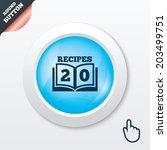 cookbook sign icon. 20 recipes...