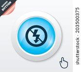 no photo flash sign icon....
