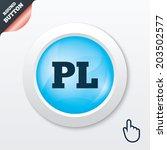 polish language sign icon. pl...