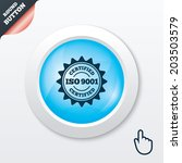 iso 9001 certified sign icon....