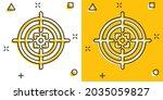 shooting target vector icon in...   Shutterstock .eps vector #2035059827