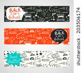 back to school banners with... | Shutterstock .eps vector #203506174