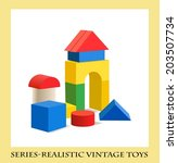 Colorful Wooden Blocks Toy   ...