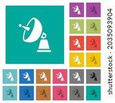 satellite antenna multi colored ... | Shutterstock .eps vector #2035093904