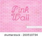 pink rose grunge brick wall... | Shutterstock .eps vector #203510734