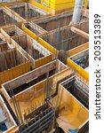 construction site of a high... | Shutterstock . vector #203513389