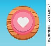 round mobile app ui heart...