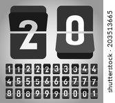 vector flip clock  flat style   Shutterstock .eps vector #203513665
