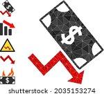 triangle dollar down trend...   Shutterstock .eps vector #2035153274