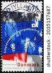Small photo of DENMARK - CIRCA 1996: a stamp printed in Denmark dedicated to Danish Employers confederation, centenary, circa 1996
