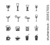 vector.drink icon set | Shutterstock .eps vector #203517031