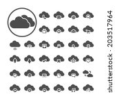 cloud computing icon set  each... | Shutterstock .eps vector #203517964