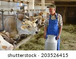 farmer is working on the... | Shutterstock . vector #203526415