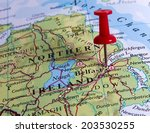 belfast  in the map with pin | Shutterstock . vector #203530255
