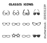 glasses icons  mono vector... | Shutterstock .eps vector #203531239