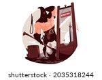 medieval man executioner vector ...   Shutterstock .eps vector #2035318244