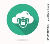 online privacy icon. simple... | Shutterstock .eps vector #2035334111