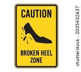 broken heel zone. humorous... | Shutterstock .eps vector #2035432637